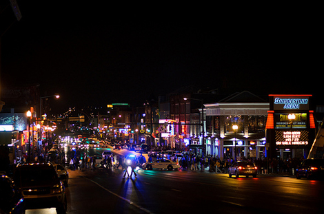 Downtown Nashville at Night - Photo Credit: http://www.flickr.com/photos/35106989@N08/6829855190/