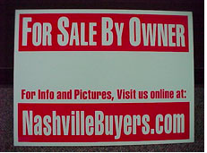 This sign is provided free to all my fsbo clients