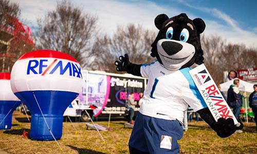 Tagger the Bear, official mascot for the Ashton Real Estate Group of RE/MAX Advantage